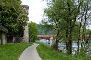 Bad Säckingen - Holzbrücke über den Rhein