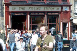 Straßenkünstler in Edinburgh
