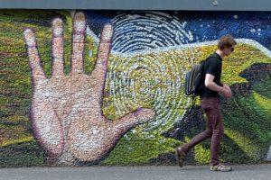 Eine der zahlreichen Wandmalereien in Glasgow