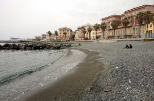 Am Strand von Pegli / nahe Genua
