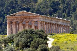 Tempelruine in Segesta
