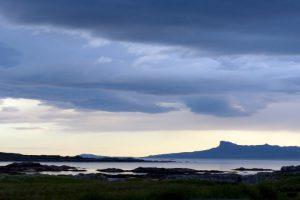 Blick von der Terrasse unserer rollenden Villa in Arisaig / West Highlands