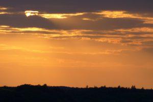 Sonnenuntergang über der Geierlay-Schleife