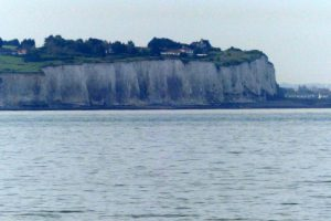 Die white cliffs of Dover im Trüben